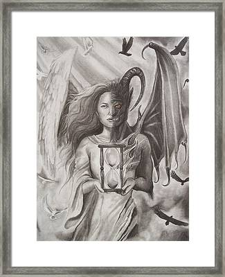 Angels And Demons Framed Print by Amber Stanford