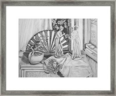 Angels And Greek Goddess Framed Print by Susan Culver