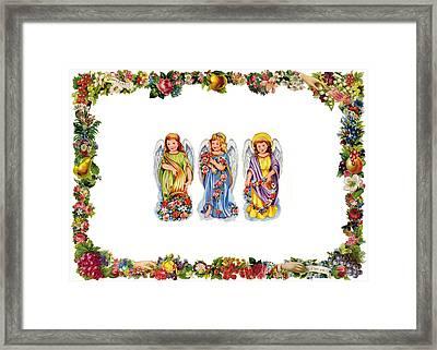 Angels And Roses Framed Print by Munir Alawi