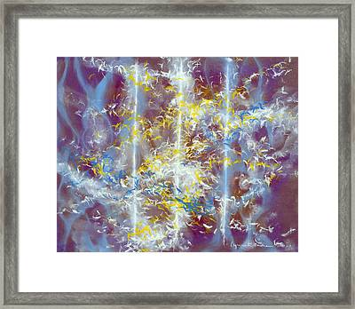 Angels At The Throne Of God Framed Print