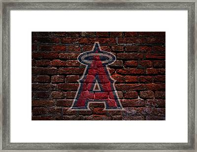 Angels Baseball Graffiti On Brick  Framed Print by Movie Poster Prints