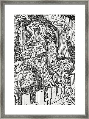 Angels Behind The Inner Sanctuary Framed Print by William Morris