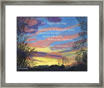 Angel's Blessing Framed Print