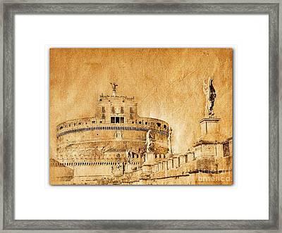 Angels Bridge And Castle Framed Print by Stefano Senise