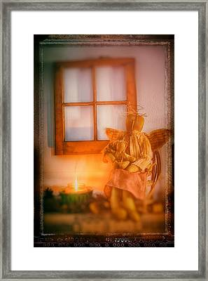 Angels By The Fire Framed Print