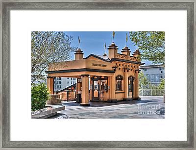 Angels Flight Landmark Funicular Railway Bunker Hill Framed Print