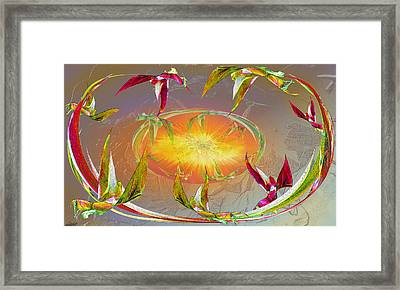 Angels Gather To The Love Of The Lord Framed Print