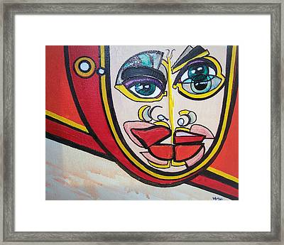 Angel's Giggle Framed Print by Valerie Wolf