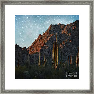 Angels In Heaven Looking Down Framed Print by Beverly Guilliams