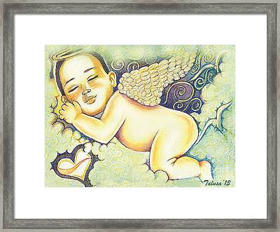 Angels In The Sky Framed Print by Teleita Alusa