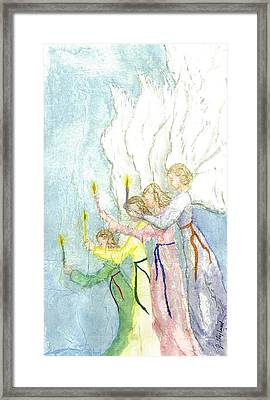 Angels Framed Print by Jeanne Hyland-Curtin