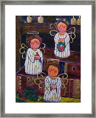 Angels Framed Print by Linda Vaughon