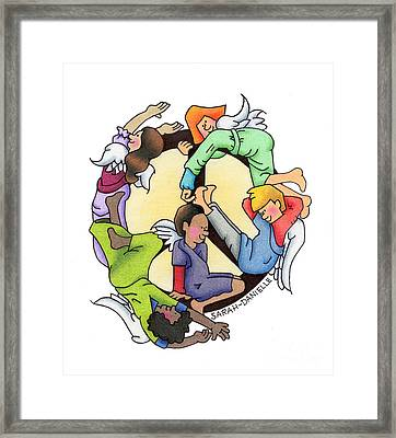 Angels Of Peace Framed Print by Sarah Batalka