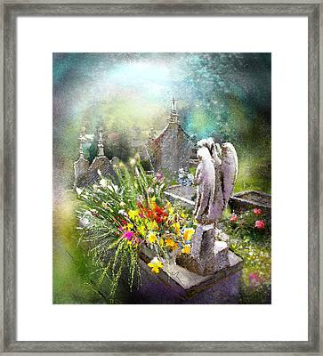 Angels Of Stone Framed Print by Miki De Goodaboom