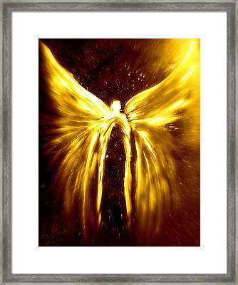 Angels Of The Golden Light Anscension Framed Print