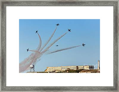Angels Over Alcatraz Framed Print