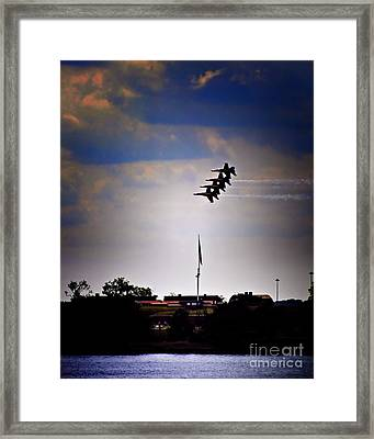 Angels Over Ft. Mchenry 2 Framed Print by Robert McCubbin