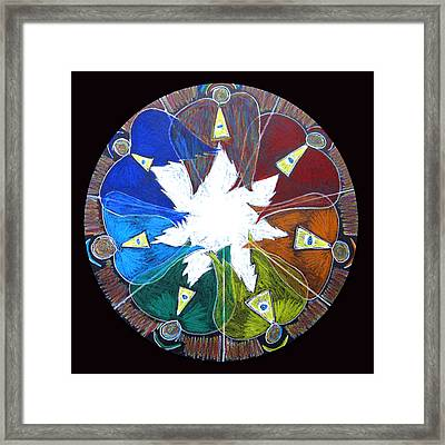 Framed Print featuring the drawing Angels by Patricia Januszkiewicz