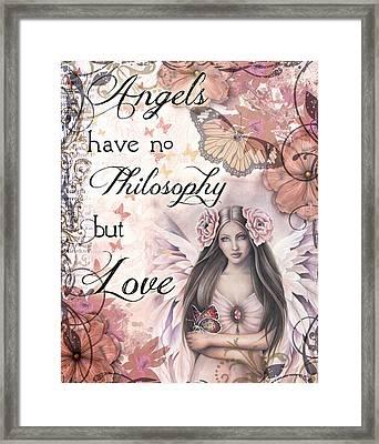 Angels Philosophy Framed Print