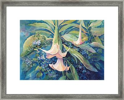 Angels Trumpets II Framed Print by Marilyn Young