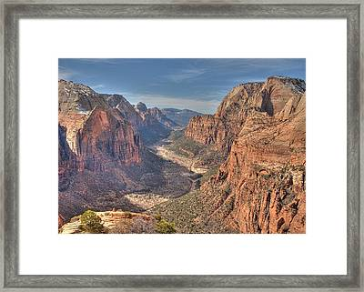 Angel's View Framed Print by Jeff Cook