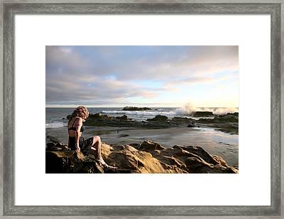 Angels- Vina On The Rocks Framed Print