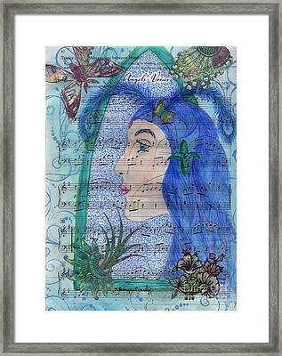 Framed Print featuring the drawing Angel's Voices by Tamyra Crossley