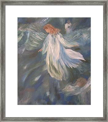 Angels Watching Over Us Framed Print by Christy Saunders Church