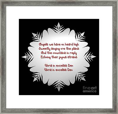 Angels We Have Heard On High Snowflake Framed Print