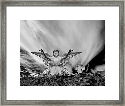 Angels Welcome Framed Print