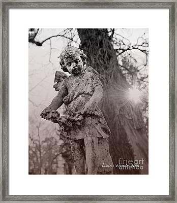 Angels Will Watch Over You Framed Print by Artist and Photographer Laura Wrede