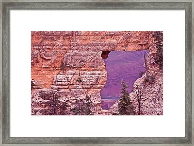 Angel's Window  Grand Canyon Framed Print by Liz Leyden