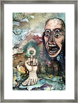 Framed Print featuring the painting Anger Of Archon by Mikhail Savchenko
