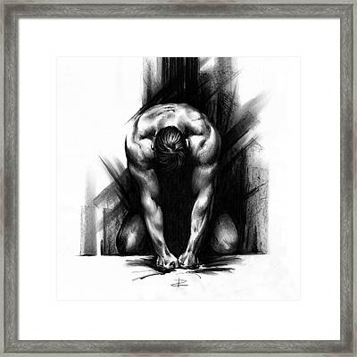 Framed Print featuring the drawing Anger by Paul Davenport
