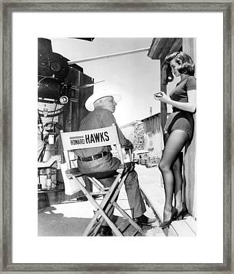 Angie Dickinson In Rio Bravo  Framed Print by Silver Screen