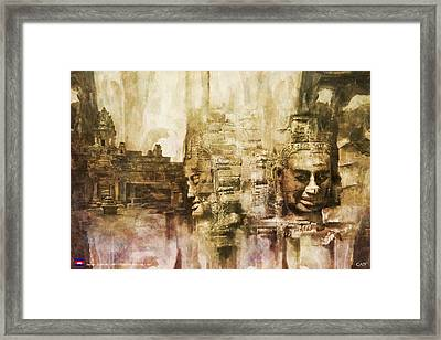 Angkor Framed Print by Catf