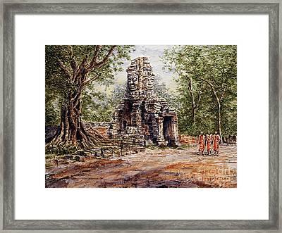 Angkor Temple Gate Framed Print