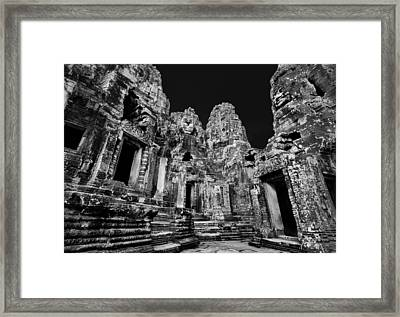 Angkor Thom Ruin Framed Print by Julian Cook