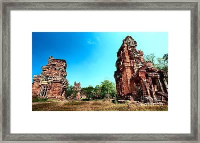Angkor Wat Ruins Framed Print