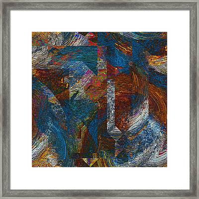 Angles And Curves Abstract Framed Print
