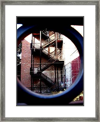Angles Of Iron Framed Print by Misty Herrick