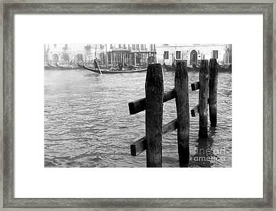 Angles On The Grand Canal Framed Print