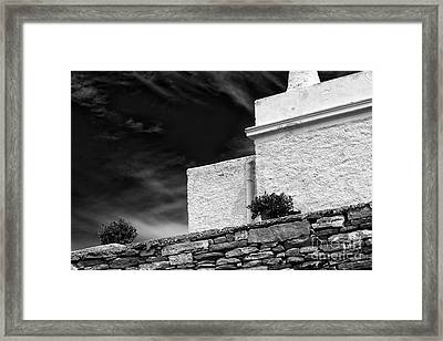 Angles On The Island Of Delos Framed Print by John Rizzuto
