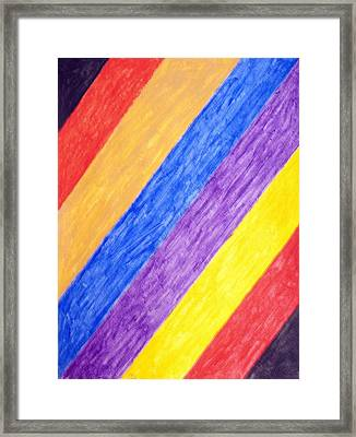 Framed Print featuring the painting Angles by Stormm Bradshaw