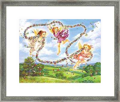 Angels Framed Print by Zorina Baldescu