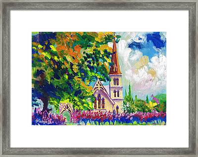 Anglican White Church In Summer Framed Print