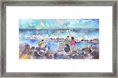 Angling In Gran Canaria Framed Print by Miki De Goodaboom