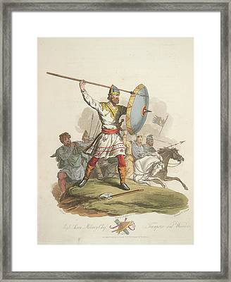 Anglo-saxon Chief Framed Print by British Library
