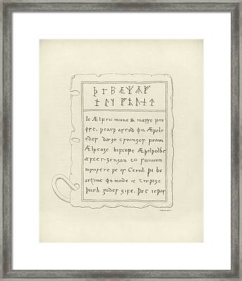 Anglo-saxon Lead Book Cover Framed Print