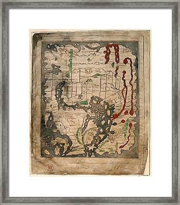 Anglo-saxon World Map Framed Print by British Library